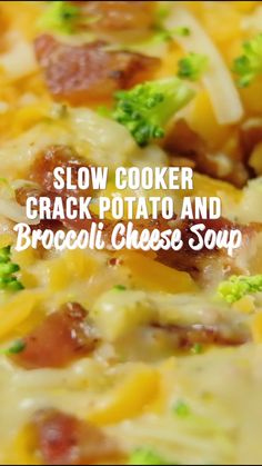impossible cheeseburger pie Slow Cooker Crack Potato and Broccoli Cheese Soup - this soup should come with a warning label! LOADED with cheddar, bacon and ranch! Potato Cheese Soups, Potato Bacon Soup, Cream Of Potato Soup, Loaded Potato Soup, Cream Of Broccoli Soup, Broccoli And Cheese, Crockpot Broccoli Cheddar Soup, Recipes With Cheese Soup, Potatoes With Cream Cheese