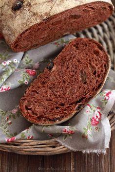 Chleb z czekoladą i rodzynkami, czyli wspólne pieczenie w lutym | Bea w Kuchni