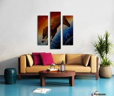 Fun / Fancy Home Decor Items, painting, Triptych Canvas Artwork, Canvas Prints, Art Prints, Blue Artwork, Canvas Poster, Living Room Decor, Bedroom Decor, Bedroom Kids, Kids Room