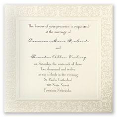 filigree wedding invitation bed bath beyond wedding invitations accessories