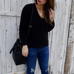 Favorite piece in my closet right now- the BP V Neck Sweater from Nordstrom