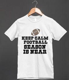 keep calm football season is near tee