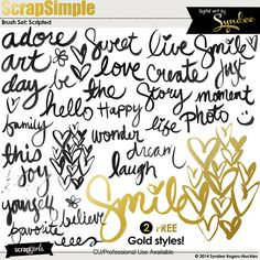 ScrapSimple Tools - Styles: Strike It Rich - Gold Digital Scrapbooking Kit by Syndee Nuckles | ScrapGirls.com