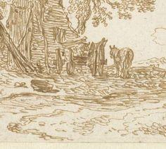 Boerderij aan een weg, Jan van Goyen, 1629 - 1631 - Jan van Goyen - Artists - Rijksstudio - Rijksmuseum