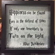 Harry Potter Dumbledore Happiness Quote Box Frame Available at: www.handmadebyamy.co.uk  Ships worldwide!