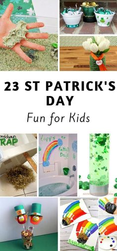 23 St Patricks Day Crafts For Kids is part of Kids Crafts Projects St Patrick I love celebrating the holidays with my kids by doing crafts They get to have fun and are proud of stuff they do and th - St Patricks Day Crafts For Kids, St Patrick's Day Crafts, Crafts To Do, Easy Crafts, Crafts For Seniors, Crafts For Teens, Kids Crafts, St. Patricks Day, Craft Projects For Kids