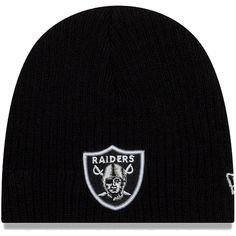 Infant Oakland Raiders New Era Black Mini Fan Knit Beanie 436af01db
