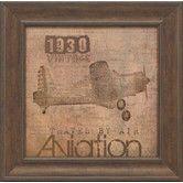 Found it at Wayfair - Aviation I Framed Vintage Advertisement