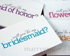 ideas for asking bridesmaids to be in wedding - Google Search