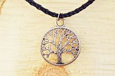 Silver Tree Necklace | Silver Tree Jewelry | Woodland Necklace | Mens Tree Necklace | Mens Jewelry Tree Necklace, Simple Necklace, Braided Leather, Leather Cord, Be Your Own Kind Of Beautiful, Tree Pendant, Jewelry Tree, Handmade Necklaces, Necklace Lengths