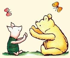Spencer Aloysius' Winnie the Pooh Clipart Collection Winnie The Pooh Cartoon, Winnie The Pooh Classic, Winnie The Pooh Quotes, Eeyore, Tigger, Cat Character, Disney Images, Bear Party, Classic Tattoo