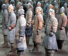 Terracotta Warriors ..... I have been to Xian and seen these guys, they are stunningly impressive in real life, pictures don't do them justice...... Evie xx