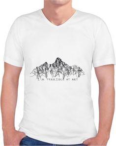 Terrible Art T-shirt Kendin Tasarla - Erkek V Yaka Tişört
