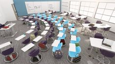 The Node school chair by Steelcase Education is mobile and flexible. It's designed for quick, easy transitions from one teaching mode to the next, unlike traditional school desks and chairs.