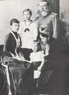 Crown Princess Victoria, Gustav, Wilhelm, Grand Duke and Duchess of Baden.