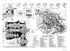 Unimog Drawing - Gearbox, caja de cambios, Schaltgetriebe