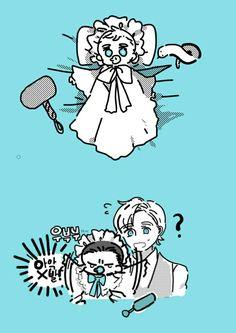 Baby Thor & Baby Loki    Cr: 김밤비