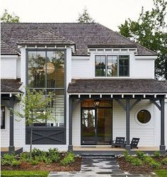 The exterior design of a home can often get overlooked, but as the first thing that welcomes both us and our guests, it is worth devoting some time tending to the outside of your house. The farmhouse exterior design totally… Continue Reading → Interior Design Minimalist, Modern Farmhouse Exterior, Farmhouse Decor, Cottage Living, Cottage Style, House Goals, My Dream Home, House Colors, Exterior Design