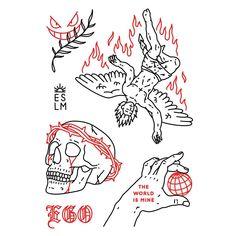 Inspirational Tattoos, Aesthetic Tattoo, Future Tattoos, Traditional Tattoo, Sleeve Tattoos, Tattoo Drawings, Witch Tattoo, Small Tattoos, Tattoo Designs