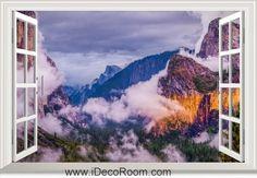 3D Yosemite National Park Usa window wall sticker art decal IDCCH-LS-000666