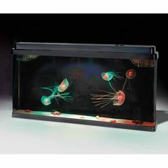 Hammacher Schlemmer is selling this aquarium filled with artificial jellyfish floating around all willy without a care in the world. You know why they don