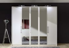 Stylform Linus Hinged Door Wardrobe - Wood & Mirror