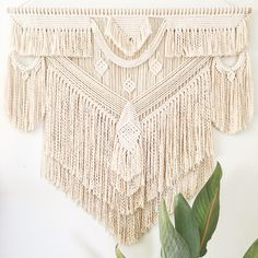 Macrame Wall Hanging 'Flow' by PrettyKooky on Etsy https://www.etsy.com/au/listing/593447501/macrame-wall-hanging-flow