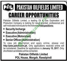 POL Jobs Apply Online Pakistan Oilfields Limited Rawalpindi Jobs 2017