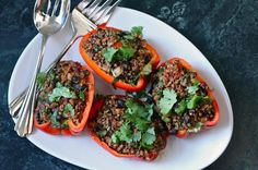 New recipe! Quinoa Stuffed Peppers (Vegan Recipe)