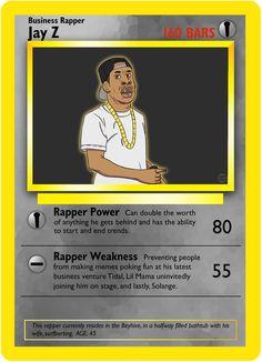 Jay Z   If Rappers Were Pokémon Cards