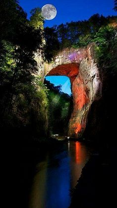 Natural Bridge, VA First discovered by George Washington when he was surveying as a young man.