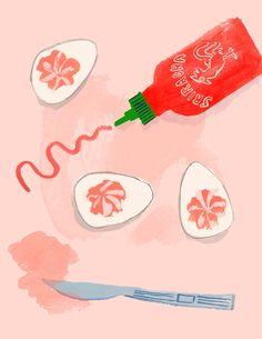 Sriracha Deviled Eggs ...couldn't be easier, or tastier!