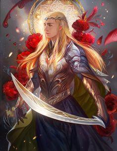 """Thranduil fan art by jiuge.deviantart.com on @DeviantArt - From """"The Hobbit"""""""