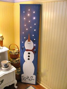 Let It SNOW sign would be adorable for the front porch and a fun way to add winter light.