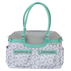"""Pin"" to bring this #JJCole Azure Infinity Diaper Bag back into our #diaperbag collection!"