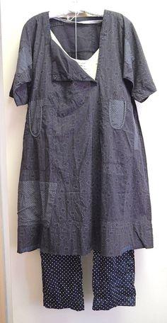 09382542ee Overdye mixed prints with wash of indigo or gray blue Gudrun