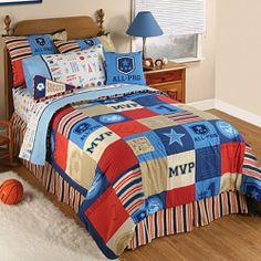 Sports Fan Kids Bedding . $34.99