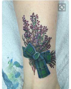 Heather tattoo idea but with clan ross tartan