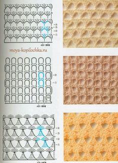 Crochet stitches chart pattern
