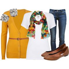 Belted Cardigan, created by qtpiekelso on Polyvore