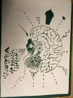 Brain. Papercut. Ida Exner. 2016 Paper Cutting, Dream Catcher, Brain, Home Decor, Art, The Brain, Art Background, Dreamcatchers, Decoration Home