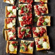 Fresh grape tomatoes and rich mozzarella cheese are a perfect pairing in this margherita pizza, which makes an easy and delicious dinner recipe.