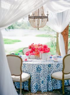 Modern Pink and Blue Wedding Table | photography by http://www.ladygreystylingsecrets.com/