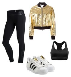 """Sport flash"" by mimmcgowan on Polyvore featuring Roxy, adidas Originals and DKNY"
