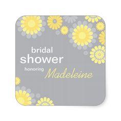 Bridal Shower Favor Sticker | Daisy Delight