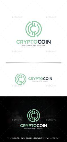 Crypto Coin Logo: Symbol Logo Design Template created by Logo Design Template, Logo Templates, Bitcoin Logo, Coin Market, Coin Design, Crypto Coin, Ai Illustrator, Branding, Best Logo Design