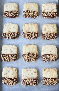 Chocolate Dipped Toffee Shortbread