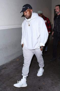 dfed1b98e20 Kanye West wearing Champion Powerblend Retro Fleece Jogger Pant
