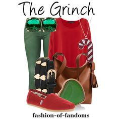 The grinch inspired look super cute for the holidays i would wear it