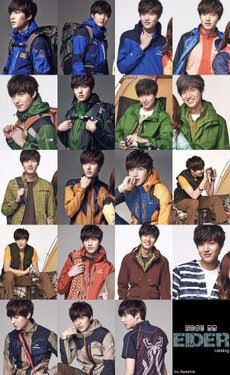 Lee Min Ho from EIDER (sport clothes)